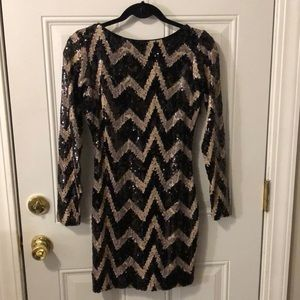Dress The Population Chevron Medium Dress